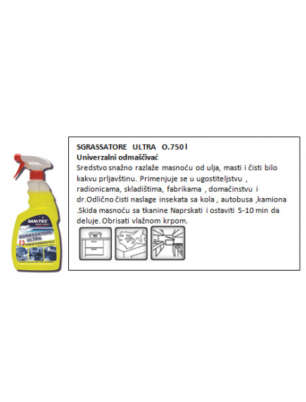 SANITEC- SGRASSATORE ULTRA 750ML